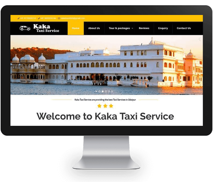 online taxi booking website design
