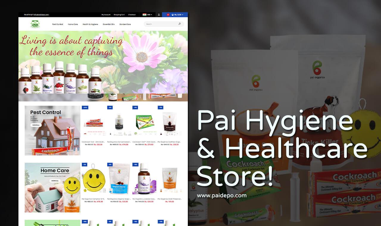 organic product company web design