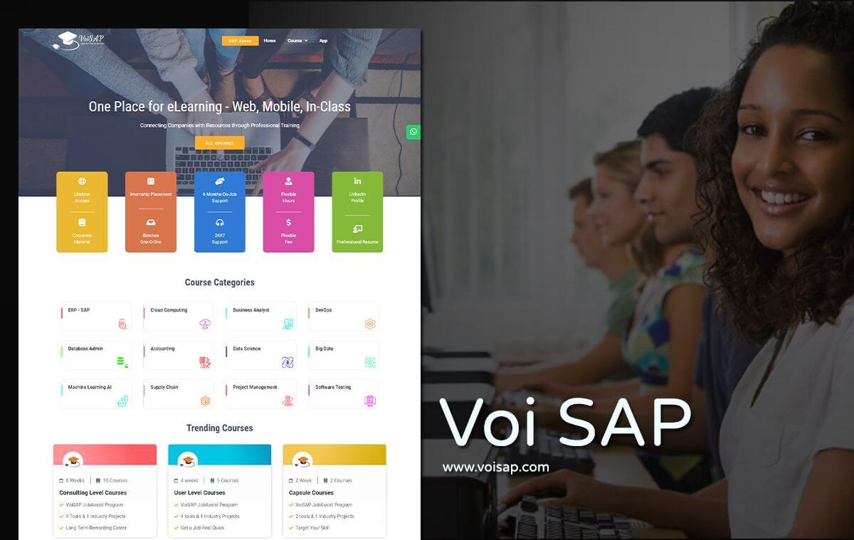 sap training website design