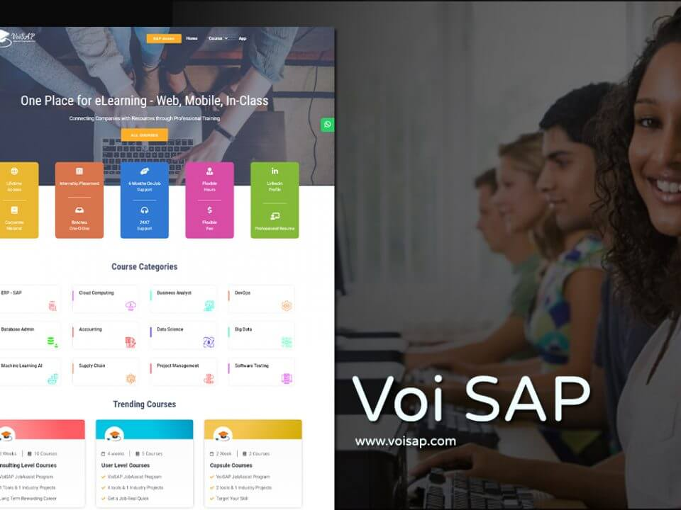 sap training website design
