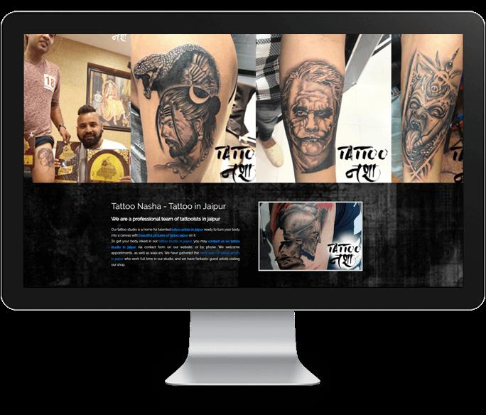 tattoo artist website design