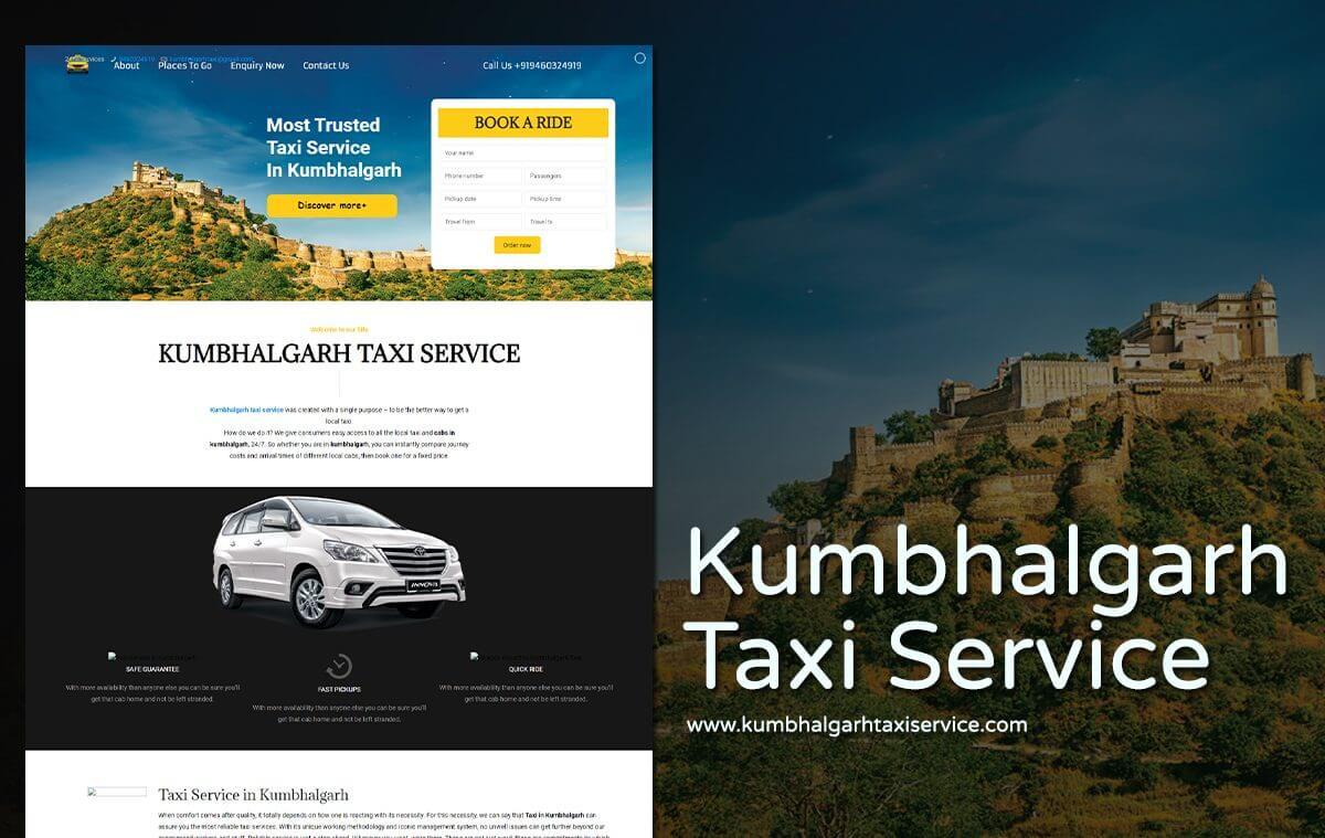 taxi booking website design
