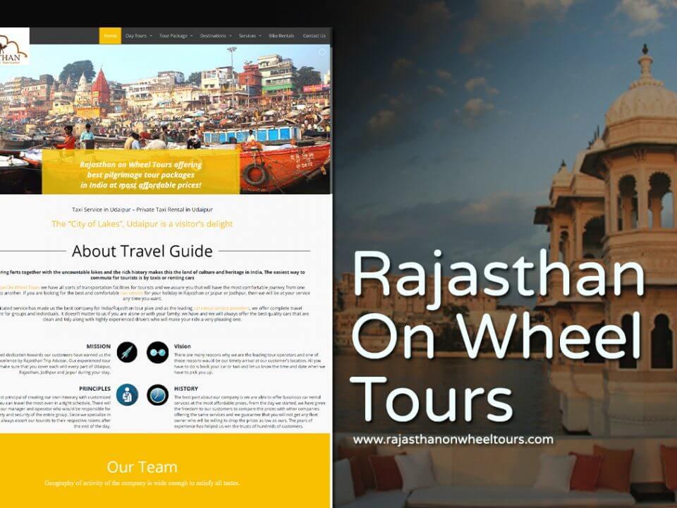 tour operator website design