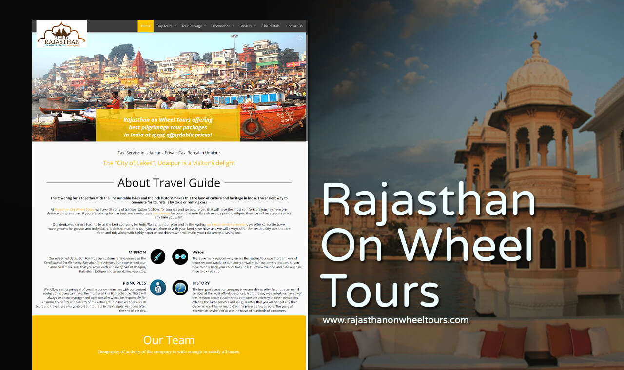 tour operator website design