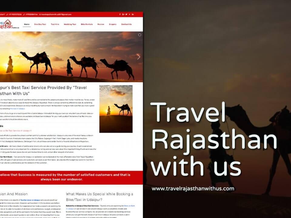 travel tour package website design
