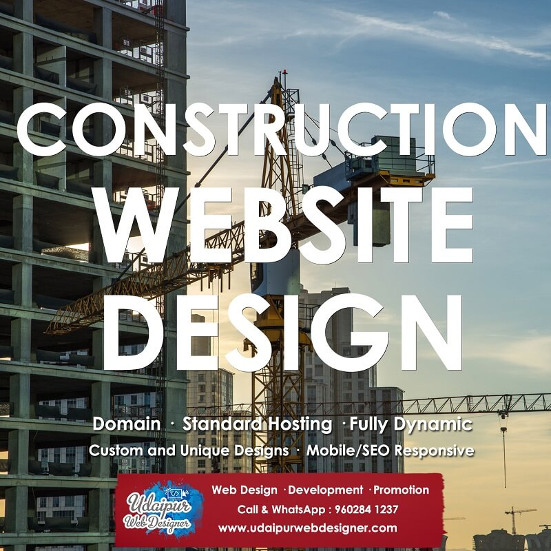 Construction Company Web Design India