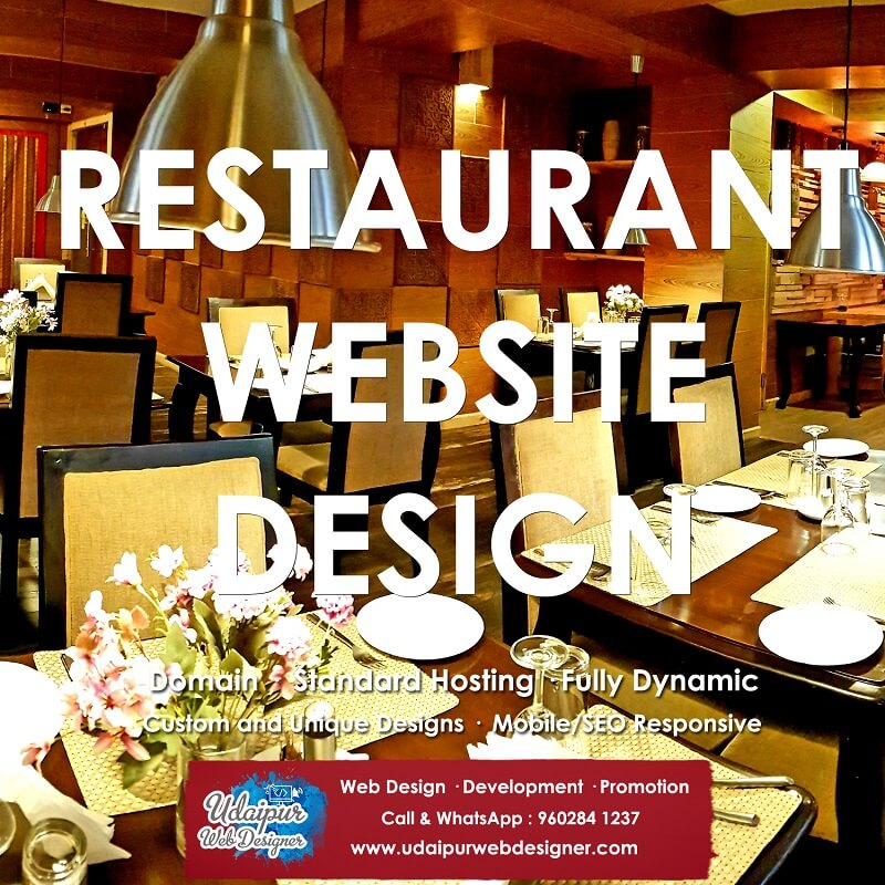 Restaurant Website Design services india