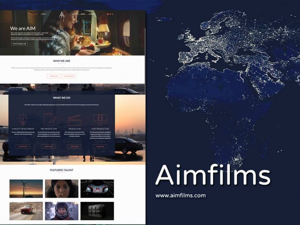 Production Company Website Designer
