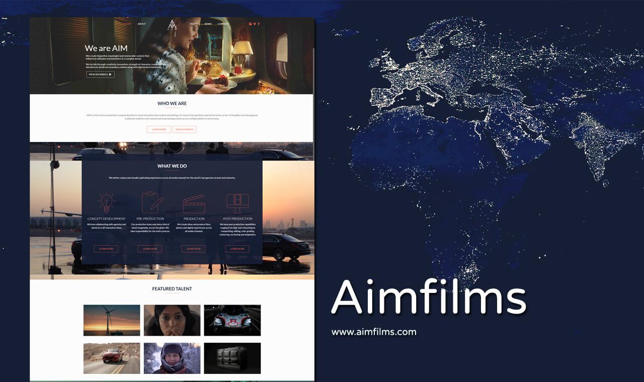 Production Company Website Designer