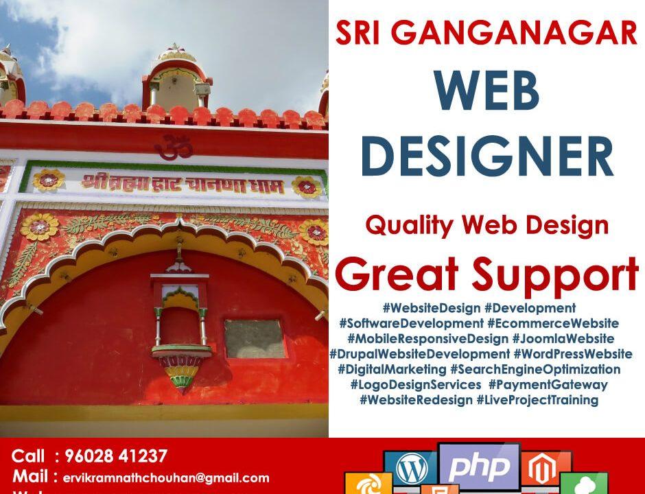 Web Designer Sri Ganganagar