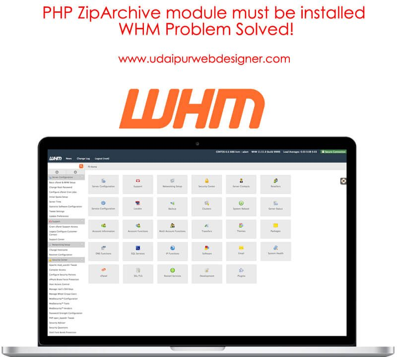 PHP ZipArchive module must be installed solution