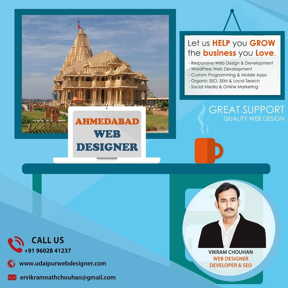 Best Web Designer in Ahmedabad-India for Website Design