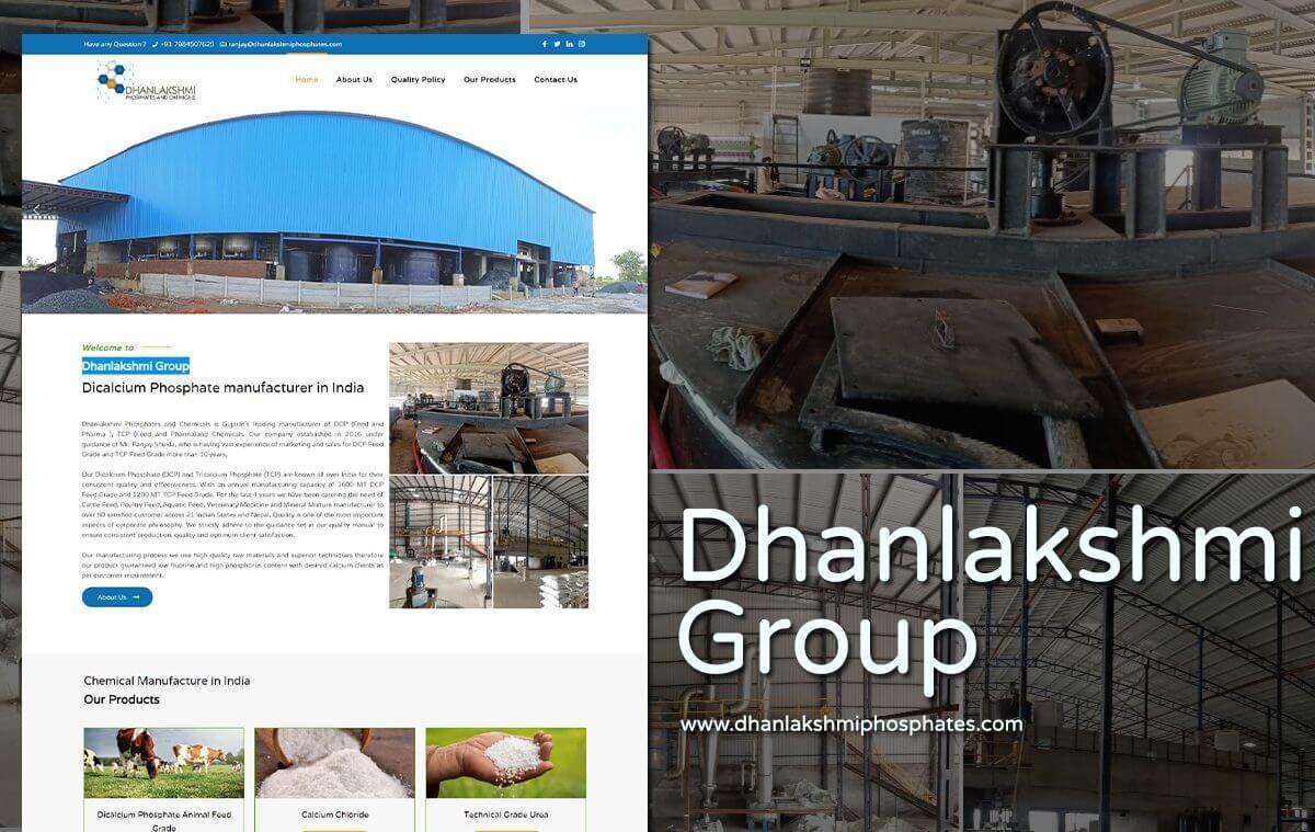 Dicalcium phosphate company website design