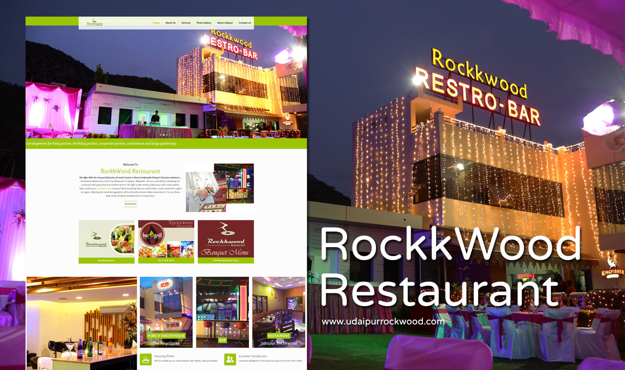 Restaurant Website Design Udaipur