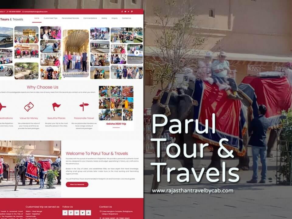best travel company website designer