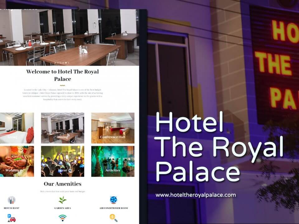 budget hotel website design