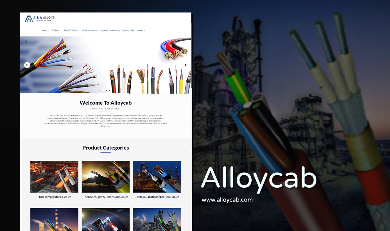 cable manufacturer company web design