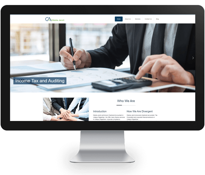 chartered accountant website design