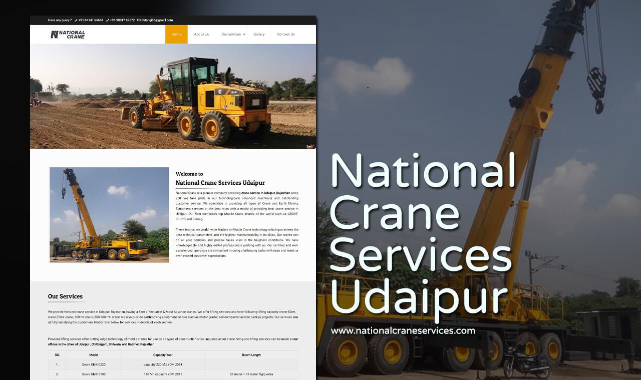 crane service website design