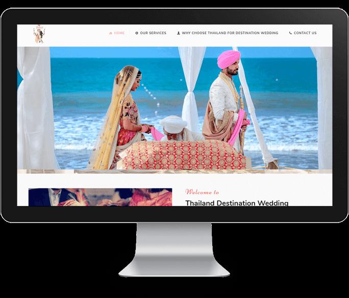 destination wedding website design