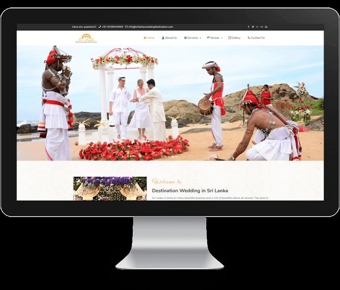 destination wedding website designer