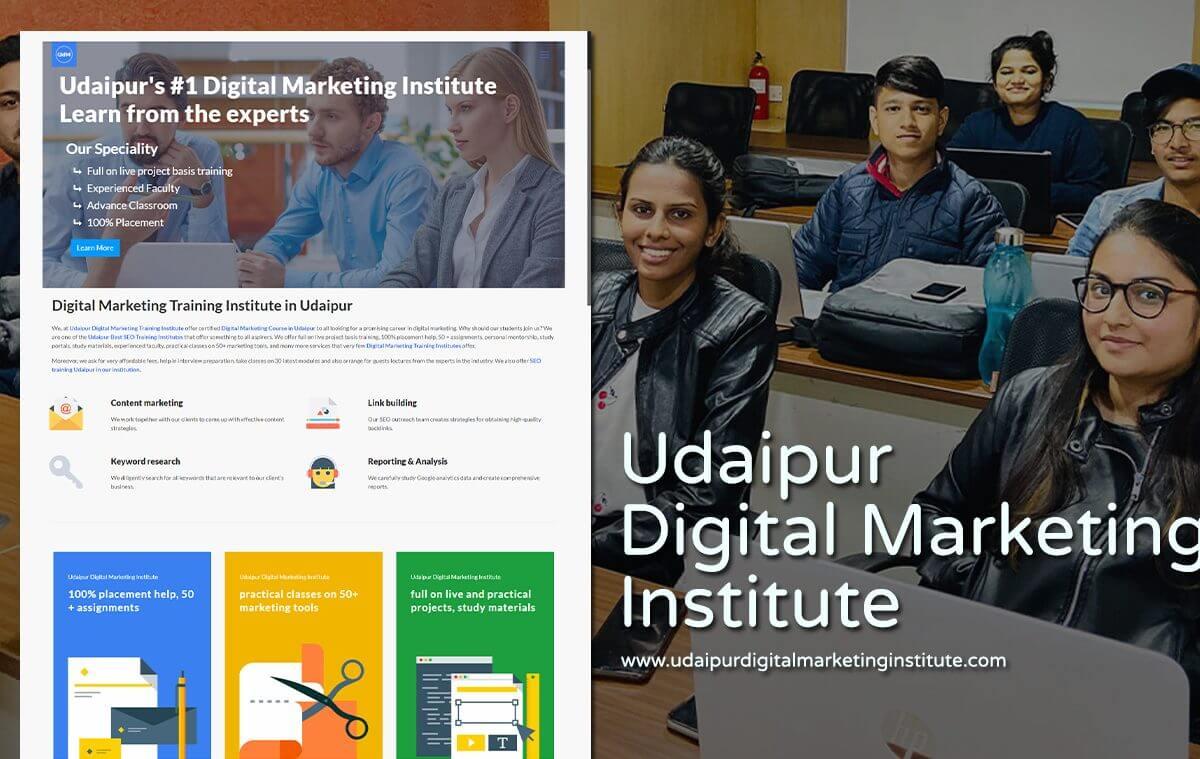 digital marketing institute website designer