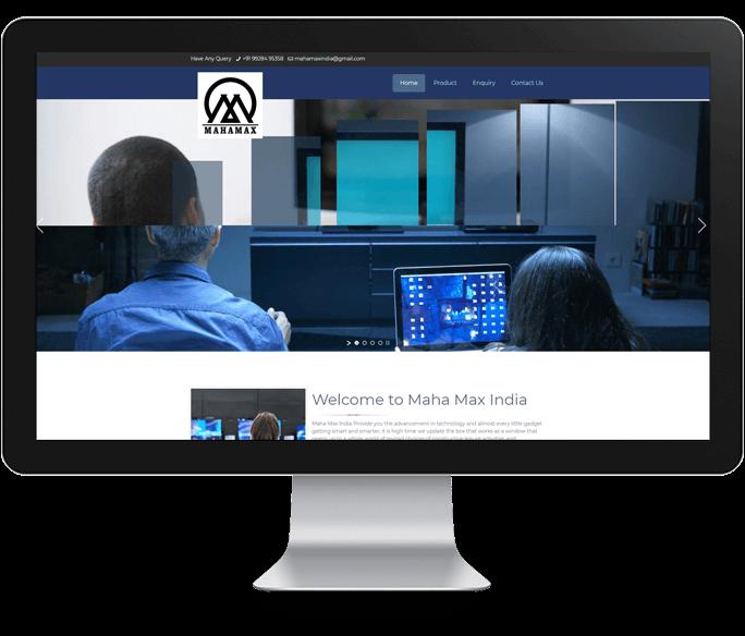electronics product website design