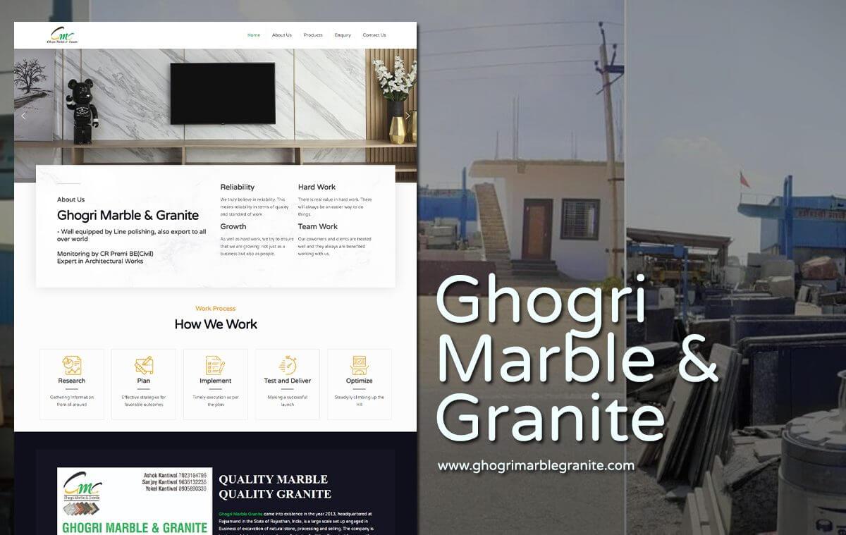 marble and granite website design