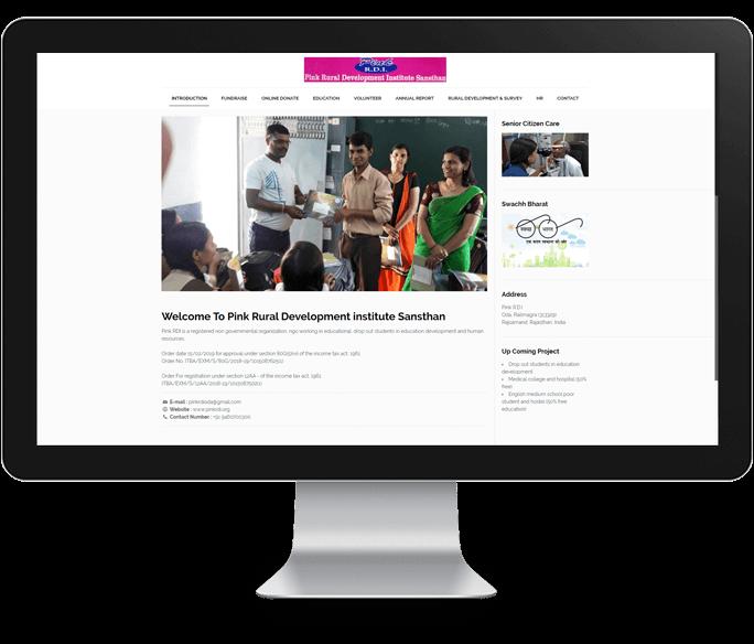 non governmental organization website design