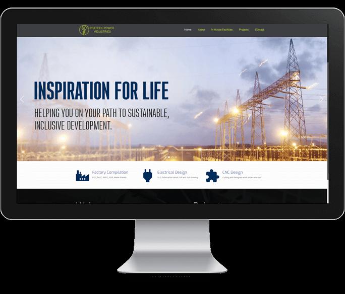 panel manufacturer website design