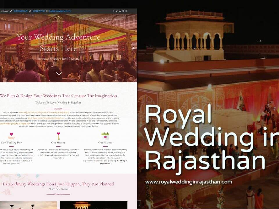 royal wedding website design