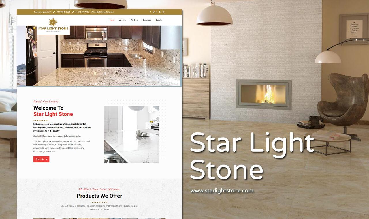 stone exporter website design