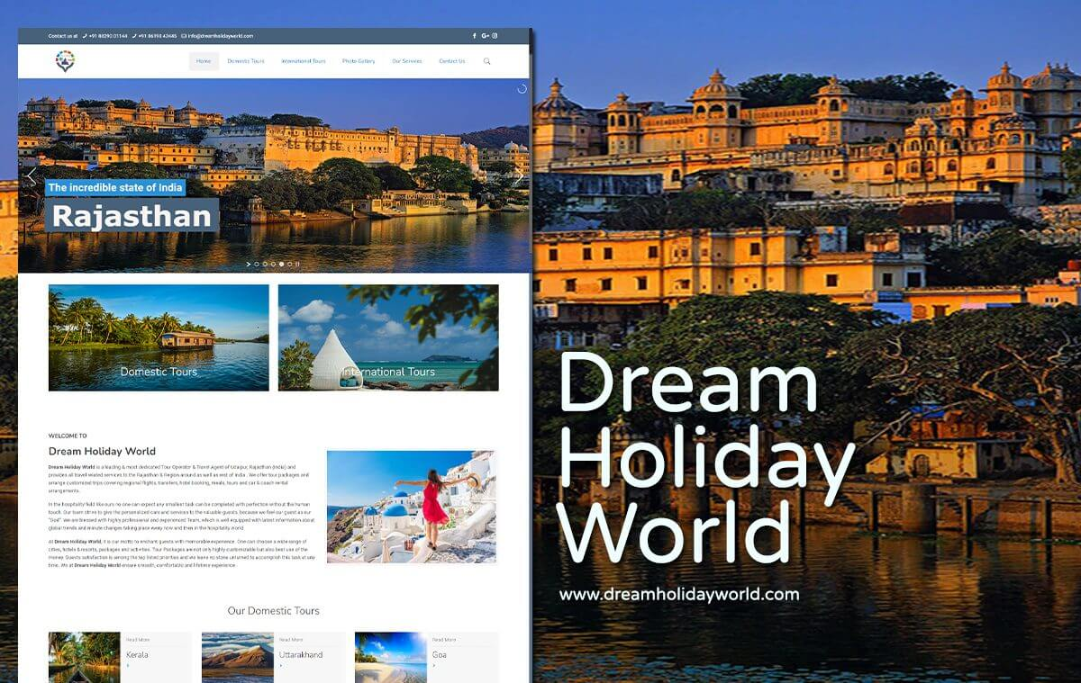 tour company website design