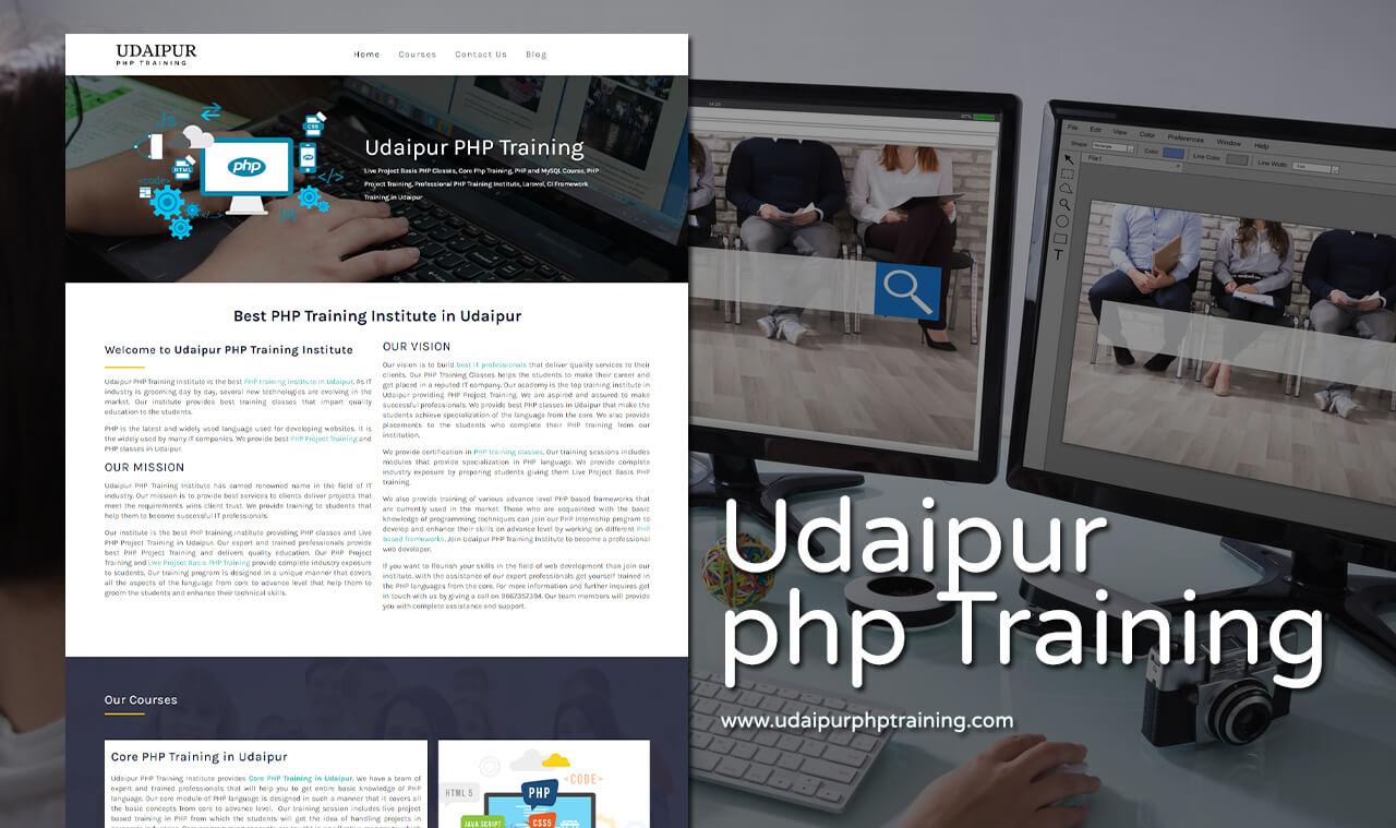 training nstitute website design