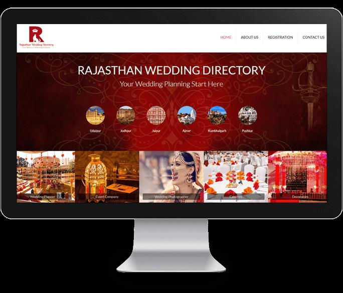 wedding directory website design