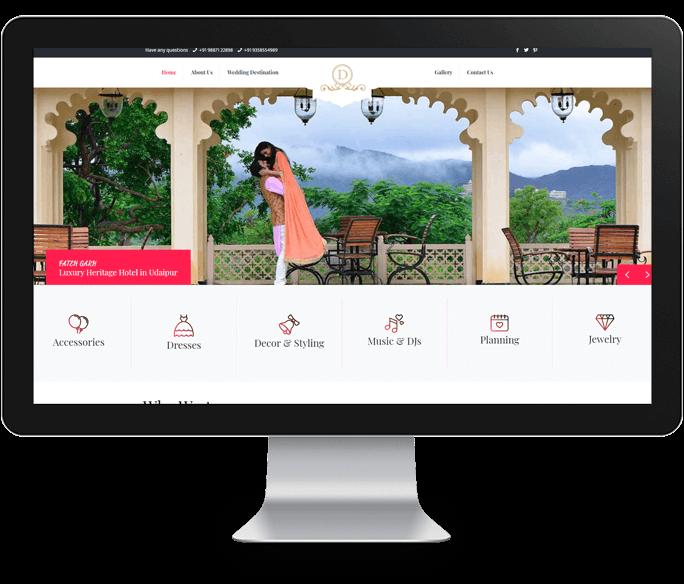 wedding organizer website design