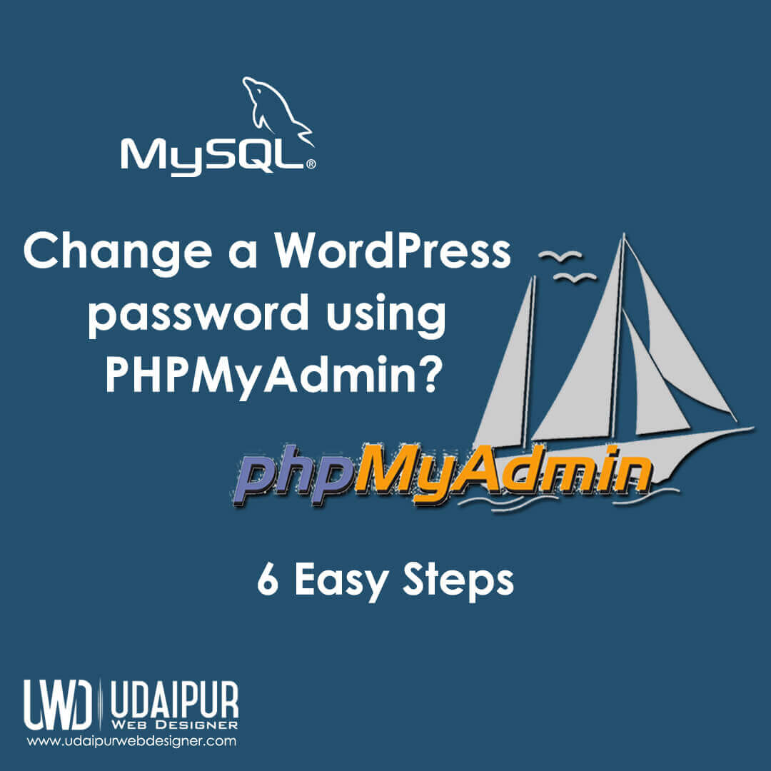 Change a WordPress password using PHPMyAdmin