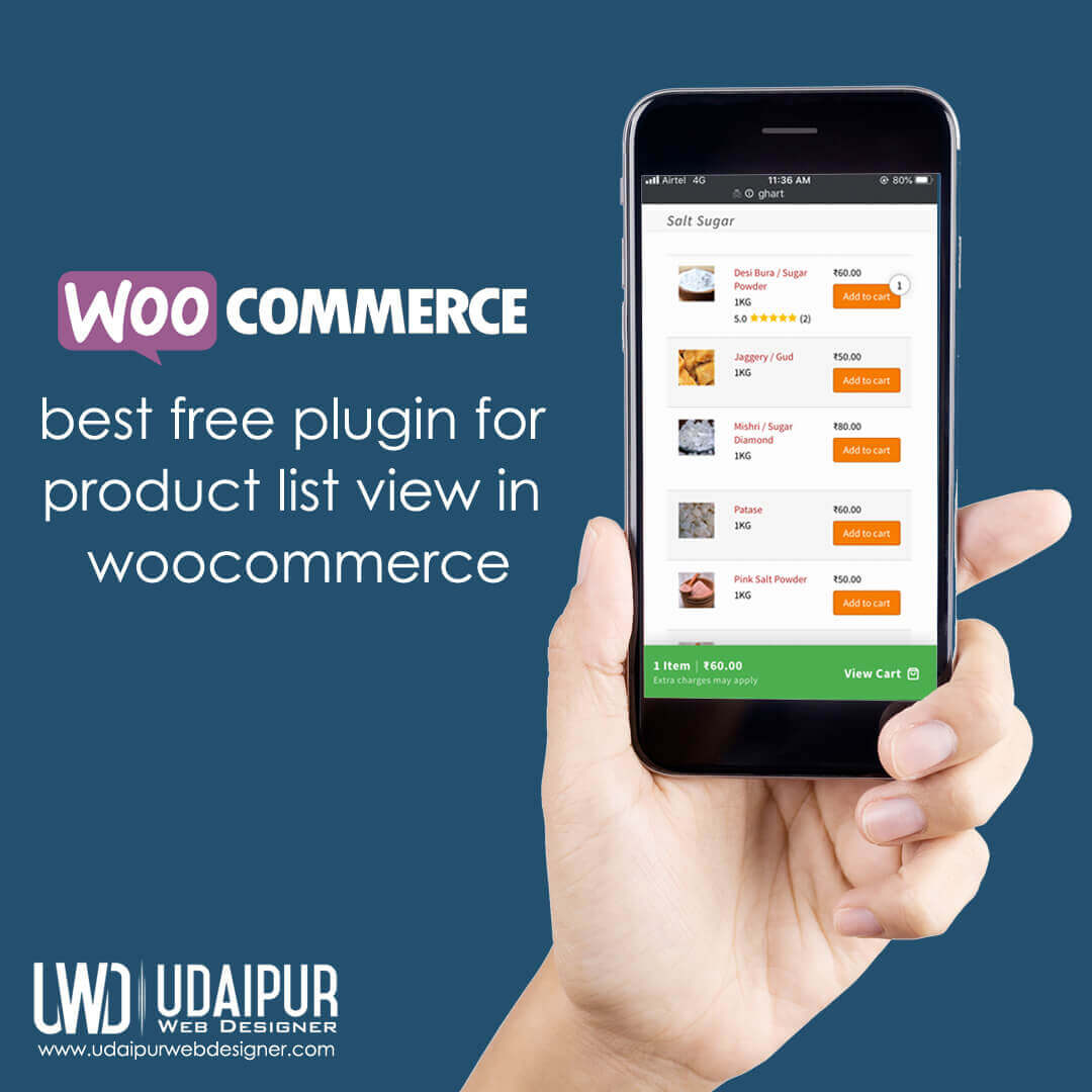 free plugin for product list view in woocommerce