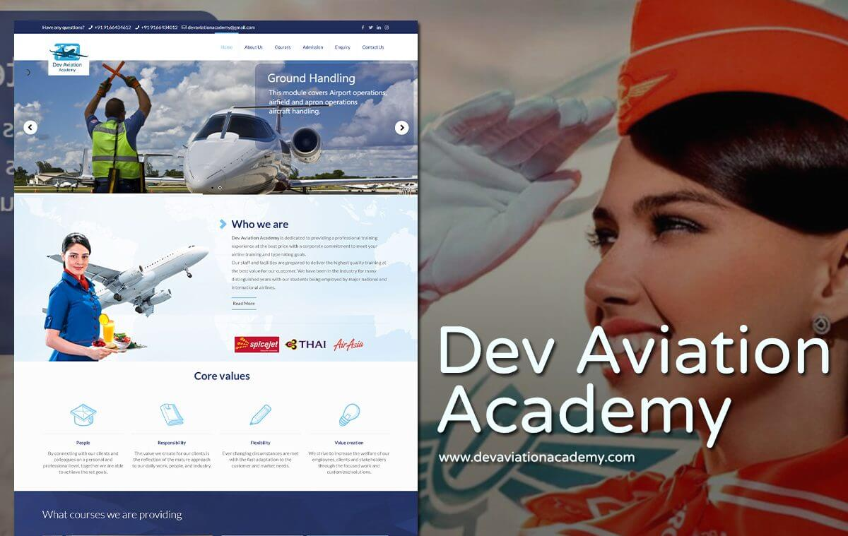 Air aviation website designer