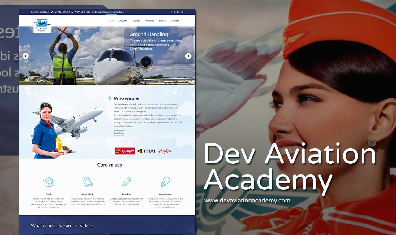 Air aviation website designer