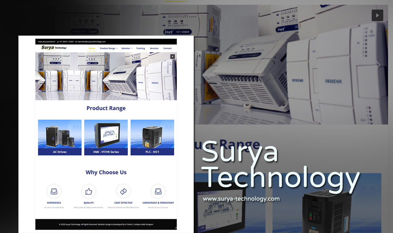 Electric Products Website Designers