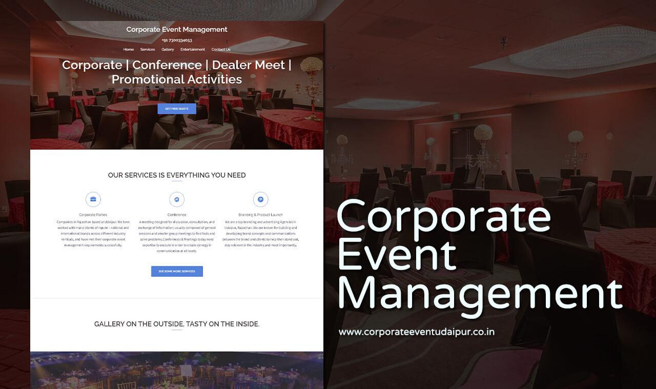 Events Management Website Designers