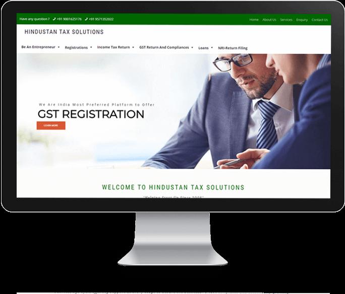 Financial services website designer