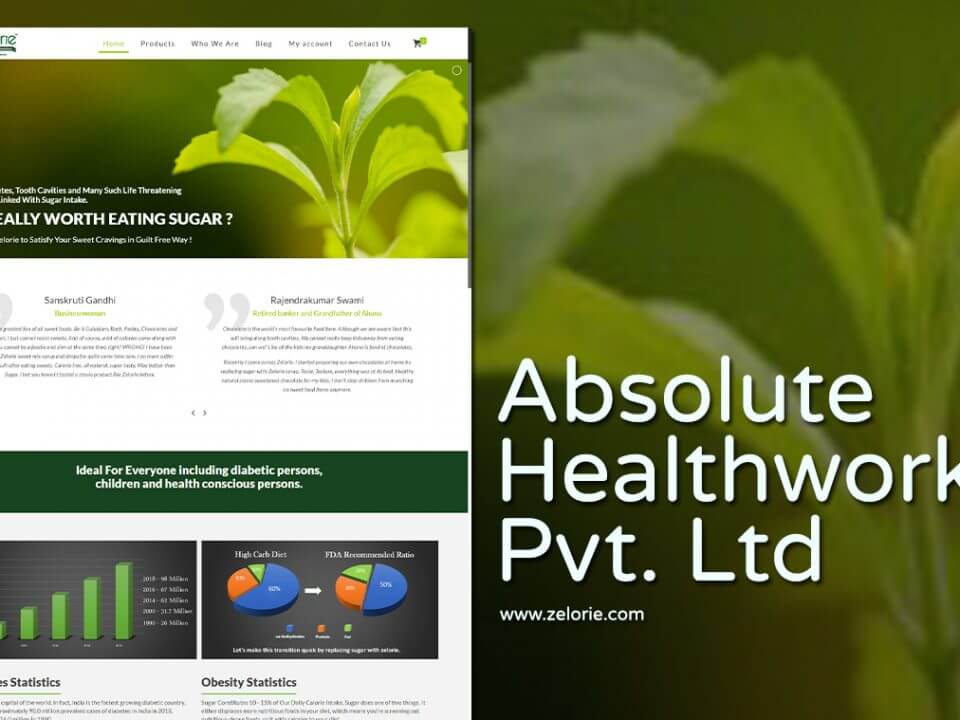 Healthcare Products Website Designer