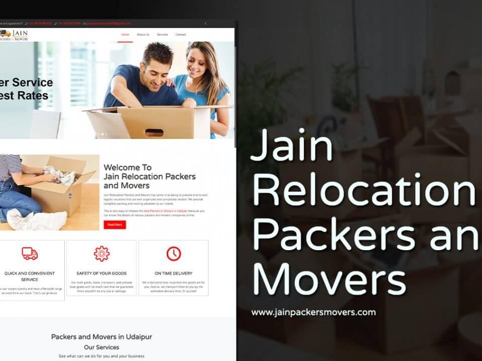 Jain Packers Movers portfolio website