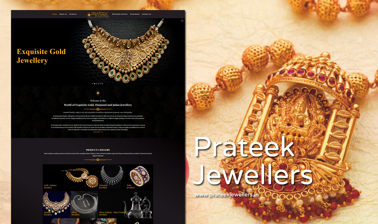 Jewelry Collection Website Designer