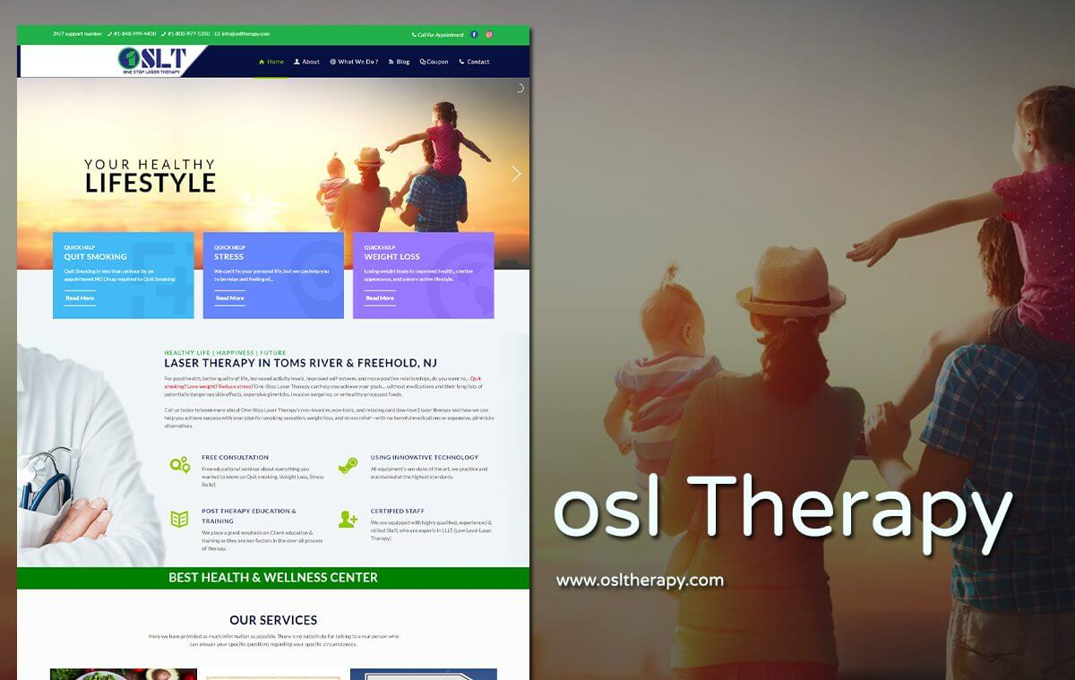 Laser Therapy Website Designers