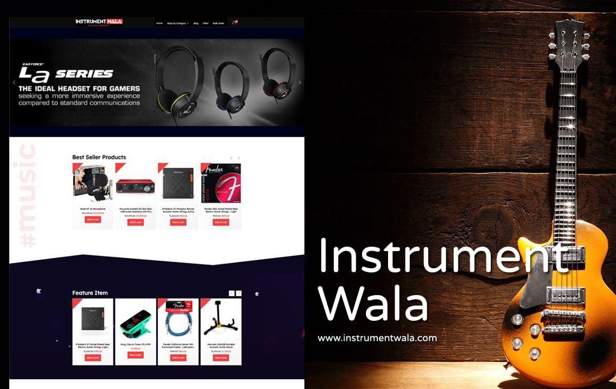 Musical Products Website Designer