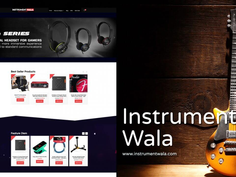 Musical Products Website Designer