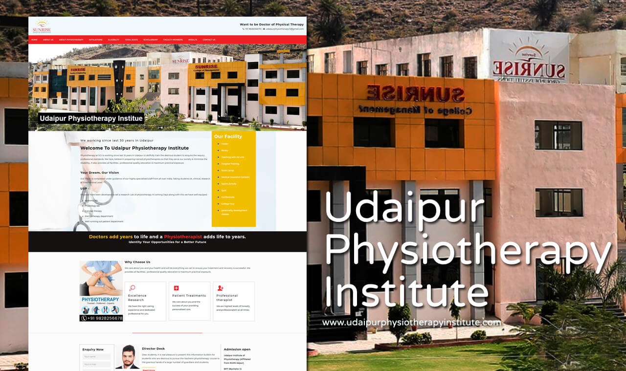 Physiotherapy Institute Website Designer